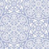 Wit blauw Marokkaans ornament Stock Afbeelding
