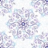 Wit-blauw naadloos patroon Stock Foto's