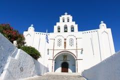 Wit-blauwe Santorini Stock Afbeeldingen