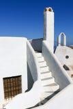 Wit-blauwe Santorini Royalty-vrije Stock Foto
