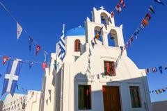 Wit-blauwe Santorini Royalty-vrije Stock Fotografie