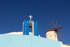 Wit-blauwe Santorini Stock Afbeelding