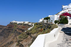 Wit-blauwe Santorini Royalty-vrije Stock Afbeelding