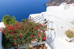Wit-blauwe Santorini Royalty-vrije Stock Foto's
