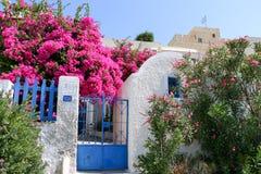 Wit-blauwe Santorini Stock Fotografie