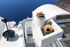 Wit-blauwe Santorini Royalty-vrije Stock Afbeeldingen