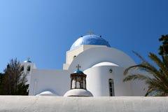 Wit-blauwe Santorini Stock Foto's
