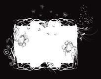 Wit bloemenframe Royalty-vrije Stock Afbeelding