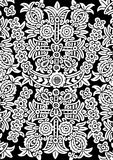 Wit bloemornament stock illustratie