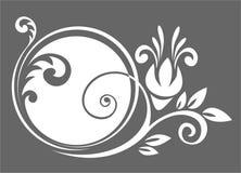 Wit bloempatroon vector illustratie