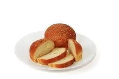 Wit brood Royalty-vrije Stock Afbeeldingen