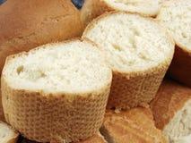 Wit brood twee stukken Stock Afbeeldingen