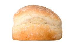 Wit brood van brood dat op wit wordt geïsoleerd. Stock Foto