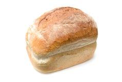 Wit brood van brood dat op wit wordt geïsoleerd. Royalty-vrije Stock Fotografie