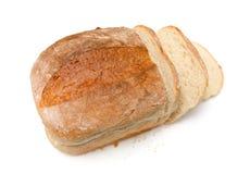 Wit brood van brood dat op wit wordt geïsoleerd. Royalty-vrije Stock Foto