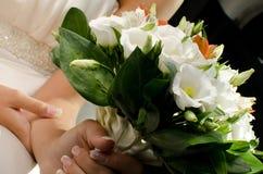 Wit bruids boeket Stock Afbeeldingen