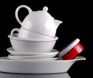 Wit ceramisch keukengereedschap Stock Afbeelding