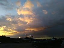 Świt chmur burza Zdjęcia Stock