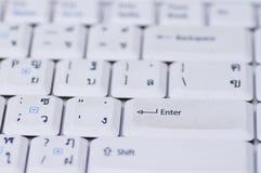 Wit computertoetsenbord Stock Afbeelding