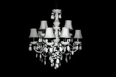 Wit Crystal Chandelier royalty-vrije stock foto's