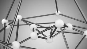 Wit 3D het close-up abstract sc.i-FI van het atoomnet geeft terug Stock Fotografie