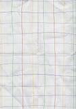 Wit dat document met grafiekrassenbarrière vouwt Royalty-vrije Stock Afbeelding