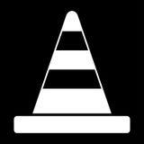Wit de kleurenpictogram van de wegkegel stock illustratie