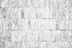 Wit de muurpatroon van de grunge houten dakspaan Stock Foto's