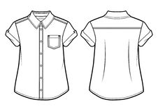 Wit de zomeroverhemd Royalty-vrije Stock Foto's
