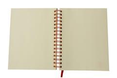 Wit die notitieboekje op wit wordt geïsoleerd Stock Foto