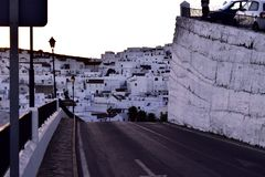 Wit dorp andalusà stock foto's