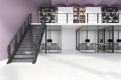 Wit dubbel verdiepingsbureau stock illustratie