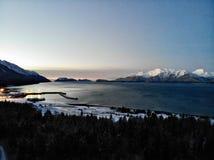 Świt dzień w Alaska zdjęcie royalty free