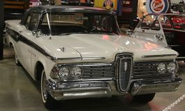 1959 Wit Edsel Corsair Stock Fotografie