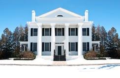 Wit elegant huis Royalty-vrije Stock Afbeelding