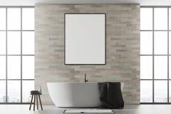 Wit en baksteenbadkamers, affiche Stock Afbeeldingen