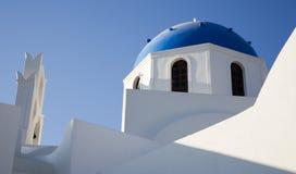Wit en Blauw Stock Afbeeldingen