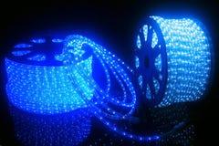 Wit en blauw diodslint Stock Foto