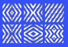 Wit en blauw patroon stock illustratie