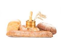 Wit en bruin brood Stock Afbeeldingen