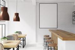 Wit en de binnenlandse affiche van de baksteenbar Stock Fotografie
