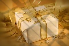 Wit en goud Royalty-vrije Stock Afbeelding