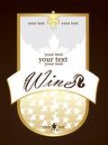 Wit en gouden etiket voor fles royalty-vrije stock fotografie