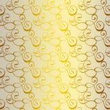 Wit en gouden modern damast Stock Foto's