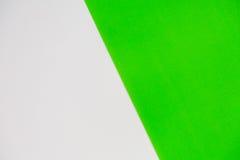 Wit en groen voor achtergrond Stock Afbeelding