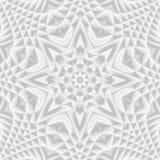 Wit en lichtgrijs futuristisch bloempatroon Monochromatisch DE royalty-vrije stock foto's