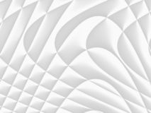 Wit en lichtgrijs futuristisch patroon Monochromatisch ontwerp FO royalty-vrije stock fotografie
