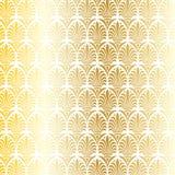 Wit en metaal gouden Grieks sier vectorpatroon Vector Illustratie