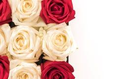 wit en rood nam op wit toe Stock Afbeelding