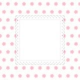Wit en roze bloemen vectormalplaatje Royalty-vrije Stock Afbeelding